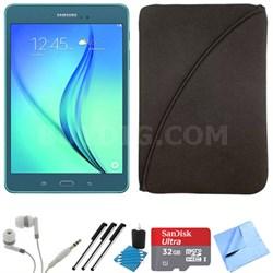 Galaxy Tab A 9.7-Inch Tablet (16 GB, Smoky Blue) 32GB Memory Card Bundle