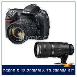 D300S DX-format Digital SLR Outfit w/ 18-200 and 70-200mm Lens Rebate Bundle