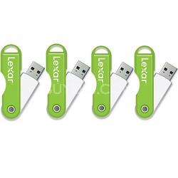 JumpDrive TwistTurn 16 GB High Speed USB Flash Drive 4-Pack