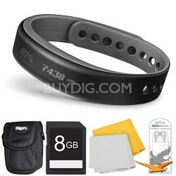 vivosmart Bluetooth Fitness Band Activity Tracker - Small - Slate Deluxe Bundle