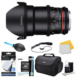 DS 35mm T1.5 Full Frame Wide Angle Cine Lens for Sony A Mount Accessory Bundle