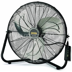 Stanley 655650 20-Inch High Velocity Floor or Wall mount Fan - Black