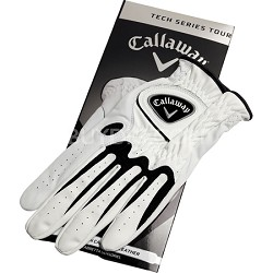 Tech Series Synthetic Leather Cadet Tour White Golf Gloves - Medium 5310030