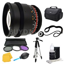 85mm T1.5 Aspherical Cine Lens and Filter Kit Bundle for Sony E-Mount
