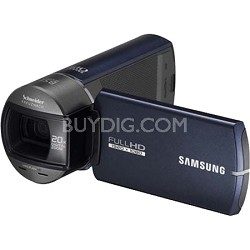 HMX-Q10BN Ultra Compact Full HD Blue Camcorder w/ 10x Optical Zoom