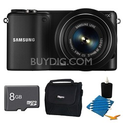 NX2000 20.3MP Black Smart Digital Camera with 20-50mm Lens 8GB Bundle