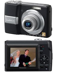 "DMC-LS80K (Black)Lumix 8MP DigitalCamera w/ 3xOptical Zoom & 2.5"" LCD - OPEN BOX"