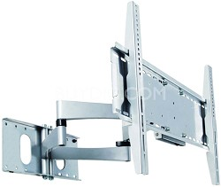 """PMA-771 Articulating Arms Dual Stud Wall Mount for 40"""" to 60"""" Screens (Silver)"""