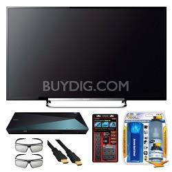 "KDL-50R550A 50"" 120Hz 3D WiFi 1080p LED HDTV and 3D Blu-ray Disc Player Bundle"