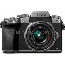 LUMIX G7 Interchangeable Lens 4K Ultra HD Silver DSLM Camera with 14-42mm Lens