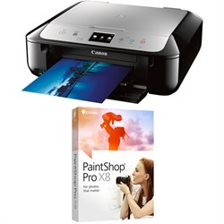 PIXMA MG6821 Wireless Color Photo Printer, Scanner, Copier + Corel Pro X8 Bundle