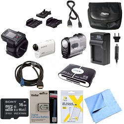 FDR-X1000VR/W 4K Action Cam and LiveView Remote Kit 16GB Bundle