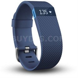 Charge HR Wireless Activity Wristband, Blue, Large