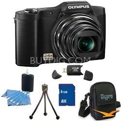 8 GB Kit SZ-12 14MP 3.0 LCD 24x Opt Zoom Digital Camera - Black