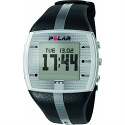 FT7  Heart Rate Monitor Watch - Black/Silver - OPEN BOX