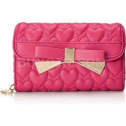 Be Mine Wallet on a String - Fuchsia