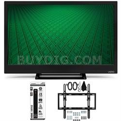 D24hn-D1 - D-Series 24-Inch Edge-Lit LED TV Flat + Tilt Wall Mount Bundle