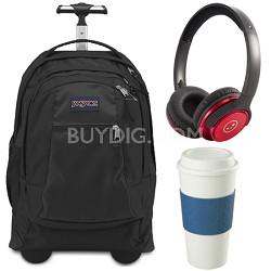 Backpack Travel Essential Bundle - Black/Blue/Red