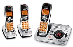 DECT 6.0 Digital Cordless Phone with Digital Answering System with 3 handsets