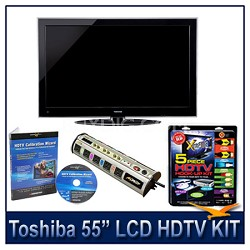 "55"" 1080p LED HDTV w/ Net TV + Hook-Up + Power Protection + Calibration DVD"