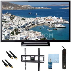 32-Inch 720p LED HDTV Motionflow XR 120 Plus Mount & Hook-Up Bundle - KDL32R420B