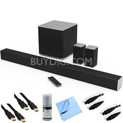 "SB4051-C0 - 40"" 5.1ch Sound Bar w/ Wireless Sub & Rear Speakers + Hook-Up Bundle"