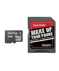 4GB Moblile MicroSDHC + SD Adapter