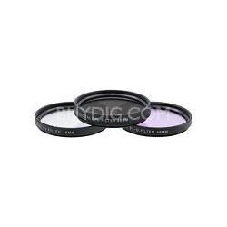 46mm UV, Polarizer & FLD Deluxe Filter kit (set of 3 + carrying case) XTFLK46