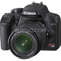 Rebel XS 10.1MP Digital SLR Camera with EF-S 18-55mm IS f/3.5-5.6 Lens