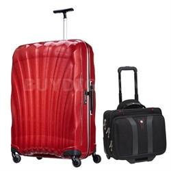 """28"""" Black Label Cosmolite Spinner (Red) + Wenger Laptop Boarding Bag"""
