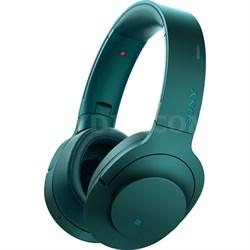 MDR100 h.Ear on Wireless NC On-Ear Bluetooth Headphones w/ NFC - Viridian Blue