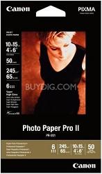 "Photo Paper Pro II 4"" X 6"" - 50 Sheets"