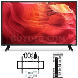 E48u-D0 - 48-Inch SmartCast Full-Array UHD Home Theater TV w/ Flat Mount Bundle