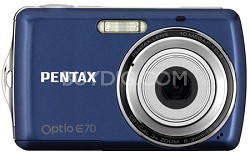"Optio E70 10MP 2.4"" LCD Digital Camera (Deep Blue)"