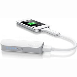 3,000 mAh USB Portable Battery Pack, Charger w/ USB Magic Cable Trio - OPEN BOX