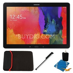 """Galaxy Note Pro 12.2"""" Black 32GB Tablet and Case Bundle"""