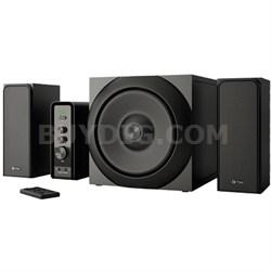RATSEL - 2.1+1 Bluetooth Wooden Multimedia Speakers System 360 watts