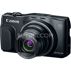 PowerShot SX710 HS 20.3MP 30x Opt Zoom HD 1080p Digital Camera - Black