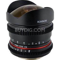 8mm T3.8 Ultra Wide Fisheye Lens for Nikon Mount
