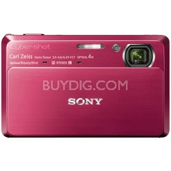 "Cyber-shot DSC-TX7 10.2 MP Digital Camera w/ 3.5"" Touch LCD (Red)"