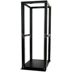 42U Adjustable 4 Post Open Server Equipment Rack Cabinet - 4POSTRACKBK