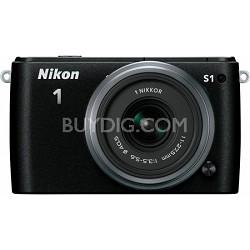 1 S1 10.1MP Black Digital Camera with 11-27.5mm Lens