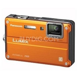 DMC-TS2D LUMIX 14.1MP Waterproof Shockproof Freezeproof Digital Camera (Orange)