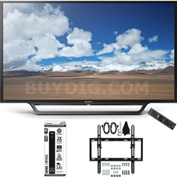 KDL-32W600D 32-Inch Class HD TV w/ Built-in Wi-Fi Flat + Tilt Wall Mount Bundle
