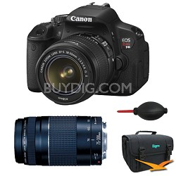 EOS Digital Rebel T4i 18MP SLR Camera 18-55mm & 75-300mm Bundle