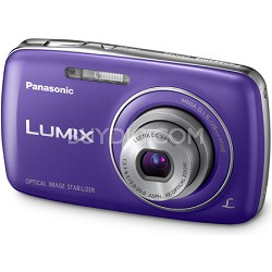 Lumix DMC-S3 14MP Compact Blue Digital Camera w/ 720p HD Video