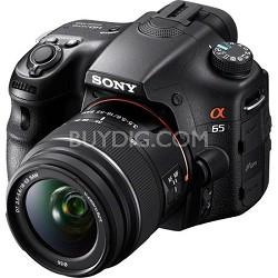 SLTA65VL DSLR 24.3MP SLR Camera 18-55mm zoom with 3-Inch LCD Screen - Black