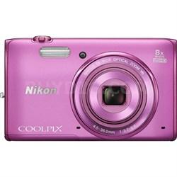 COOLPIX S5300 16MP 8x Opt Zoom Digital Camera HD (Pink) Refurbished