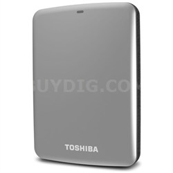 Canvio Connect 1TB Portable Hard Drive, Silver (HDTC710XS3A1)