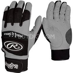 BGP950T - Workhorse Adult Batting Gloves (Black,Medium)